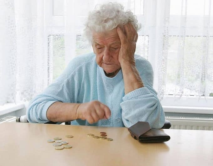 Украинские пенсионеры за чертой бедности 2
