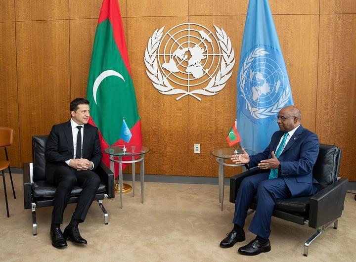 Володимир Зеленський зустрівся з президентом 76-ї сесії Генеральної Асамблеї ООН 37